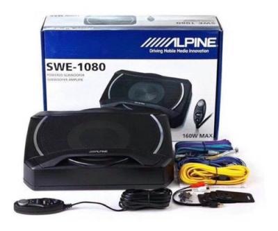 Bajo Subwoofer Activo Alpine Swe-1080 - 160 Watts Max.