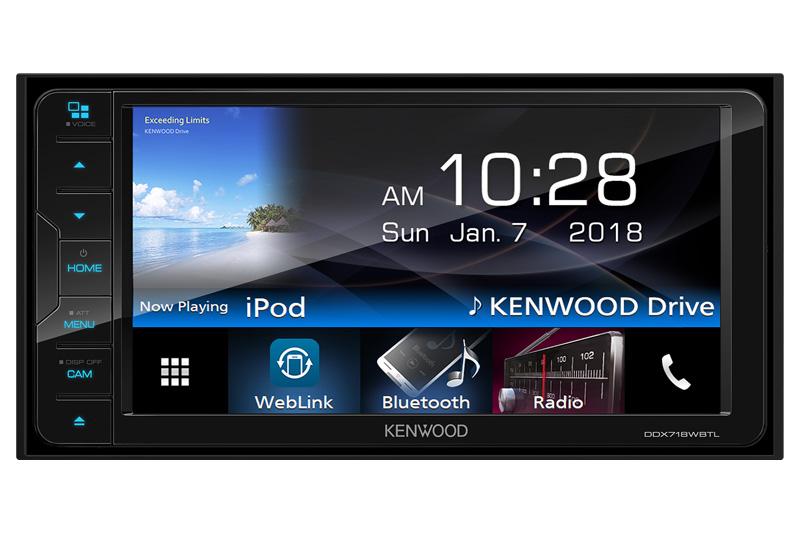 "Radio Kenwood Ddx-718wbt Double Din Player Dvd De 7.0"" Bt"